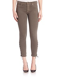 Hudson Nix Crop Jeans With Laceup Ankle Brunswick Green