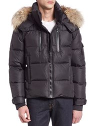 Sam. Matte Quilted Puffer Jacket Gunmetal Black