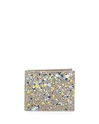 Maison Martin Margiela Paint Splatter Leather Wallet Gray Grey Maison Margiela