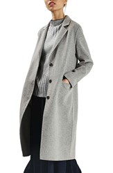 Topshop Women's Snap Button Three Quarter Coat