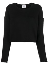 Dondup Slouched Long Sleeve Sweater Black