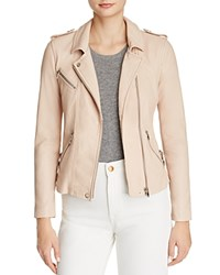 Rebecca Taylor Washed Leather Motorcycle Jacket Nude