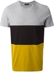 Kris Van Assche Colour Block T Shirt Grey