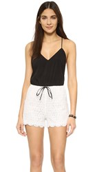 6 Shore Road Malay Lace Romper Black Rock