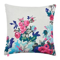 Joules Birchley Cushion 40X40cm Silver Floral