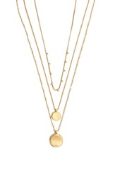 Madewell Coin Layered Necklace Vintage Gold
