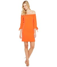 Vince Camuto Crepe Off The Shoulder Shift Dress Coral Women's Dress