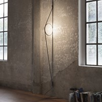 Flos Wirering Wall Light Grey Cable Gold Ring