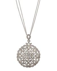 Diana M. Jewels 18K Filigree Diamond Pendant Necklace