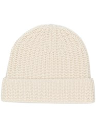 Joseph Knitted Beanie Nude And Neutrals