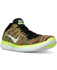 Nike Women's Free Run Flyknit Oc Running Sneakers From Finish Line Multi Color Multi Color