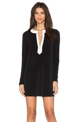 Bcbgeneration Zip Front Mini Dress Black And White
