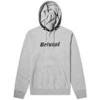 F.C. Real Bristol Fire Flame Pullover Hoody Grey