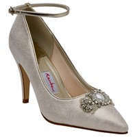 Rainbow Club Ceri Embellished Stiletto Court Shoes Champagne