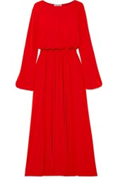Elizabeth And James Evy Stretch Crepe Maxi Dress Red