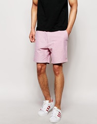 Farah Shorts In Oxford Cotton Chillired