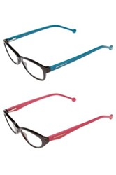 Jonathan Adler '801' 50Mm Cat Eye Reading Glasses 2 Pack Multi