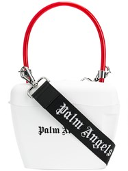 Palm Angels Padlock Mini Bag White