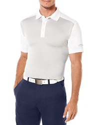 Callaway Golf Performance Color Block Short Sleeved Polo Shirt Silver