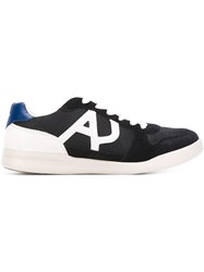 Armani Jeans Panelled Sneakers Blue