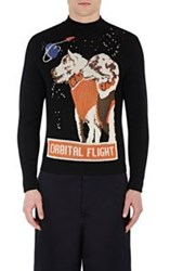 J.W.Anderson Jw Anderson Space Dog Pattern Sweater Black