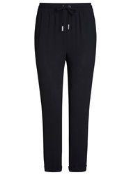 Whistles Helena Crepe Track Trousers Black