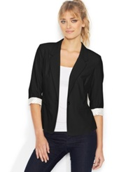 Kensie Three Quarter Sleeve Blazer Black