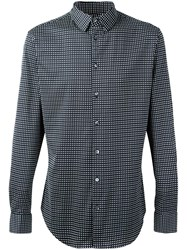 Giorgio Armani Diamond Pattern Shirt Blue
