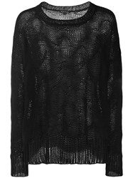 Ann Demeulemeester Perforated Detail Jumper Black