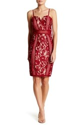 Just Me Lace Bandeau Dress Red