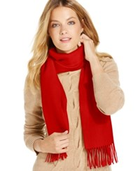 Charter Club Solid Woven Cashmere Muffler Only At Macy's Tomato