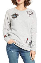 Obey Women's Patched Comfy Creatures Sweatshirt Heather Grey