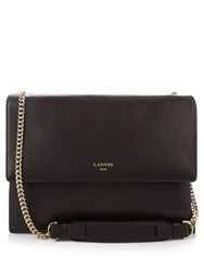 Lanvin Sugar Medium Leather Shoulder Bag Black