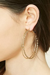 Forever 21 Twisted Hoop Earrings