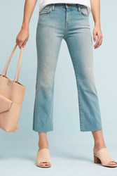 Anthropologie Current Elliott Kick High Rise Cropped Boot Jeans Denim Light