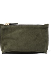 Marni Suede Cosmetics Case Army Green