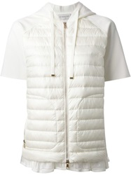 Moncler Padded Panel Hooded T Shirt White