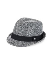 Hickey Freeman Wool And Cashmere Blend Fedora Black White