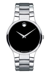 Movado Men's 'Large Serio' Stainless Steel Watch 38Mm