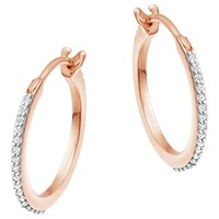 Missoma Cubic Zirconia Small Hoop Earrings Gold