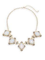 Punch Crystal Station Necklace Gold