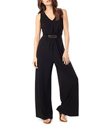 Phase Eight Sheree Buckle Jersey Jumpsuit Black