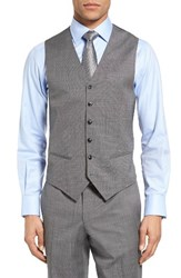 Ted Baker Men's London Jones Trim Fit Wool Vest Light Grey