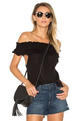 Goddis Farr Off Shoulder Top Black