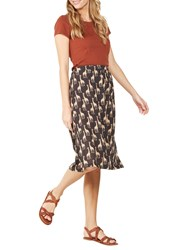 Fat Face Collier Giraffe Midi Skirt Phantom