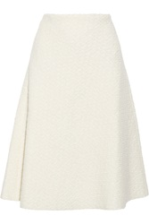 Raoul Amelia Textured Wool Blend Midi Skirt White