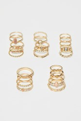 Handm H M 25 Pack Rings Gold