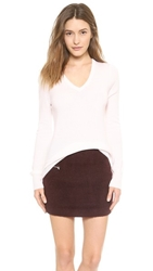 Equipment Cecile V Neck Cashmere Sweater Ivory
