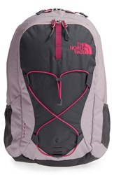 The North Face 'Jester' Backpack Grey Quail Grey Cerise Pink