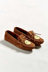 Minnetonka Double Bottom Fleece Moccasin Brown